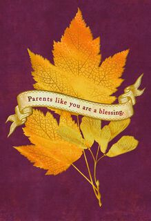 You're a Blessing Thanksgiving Card for Parents,