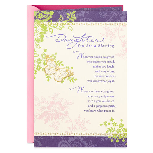 f35ee0ee6ba Gold Butterfly You Are a Blessing Birthday Card for Daughter, ...