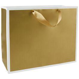 "Gold Large Gift Bag, 10.5"", , large"