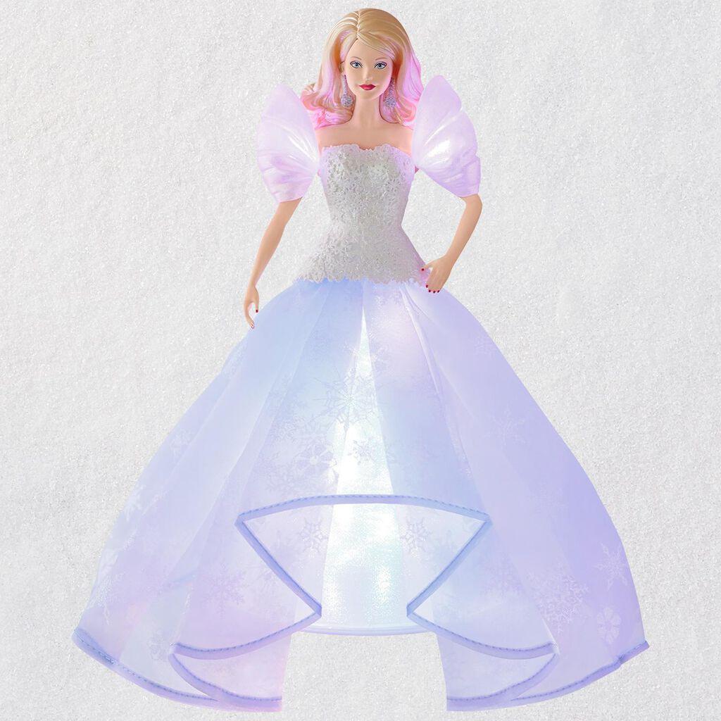 Barbie Angel Lights Tree Topper With Light Keepsake Ornaments