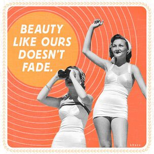 Beauty Doesn't Fade Musical Birthday Card