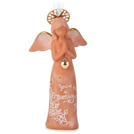 You're A Blessing Ceramic Angel Ornament, , large