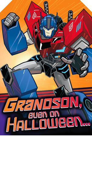 Transformers™ Robots in Disguise Halloween Card for Grandson