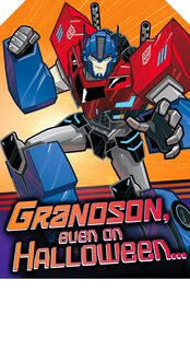 Transformers™ Robots in Disguise Halloween Card for Grandson,