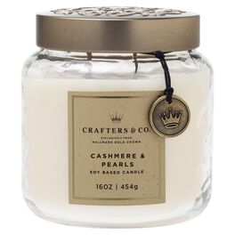 Crafters & Co. Cashmere & Pearls Candle, 16-oz, , large