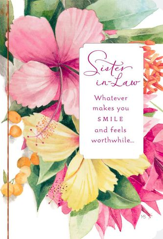 Makes you smile marjolein bastin birthday card for sister in law m4hsunfo