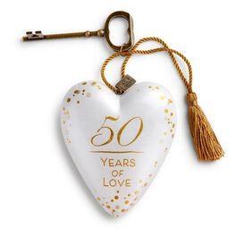 "50 Years of Love Art Heart Sculpture, 4"", , large"