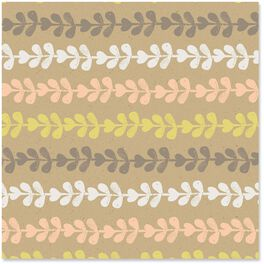 Vine Design Kraft Wrapping Paper Roll, 27 sq. ft., , large