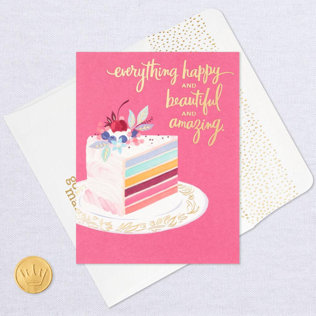 Fancy Layered Cake Birthday Card