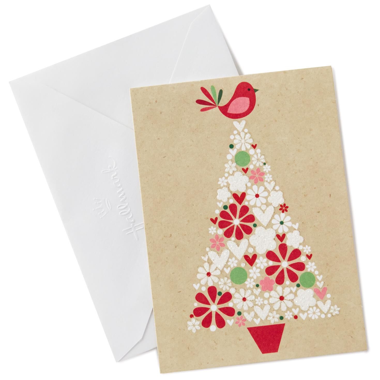 Red bird on tree blank note cards pack of 10 note cards hallmark kristyandbryce Image collections