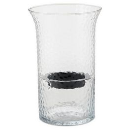 Medium Clear Bubbled Glass Hurricane, , large