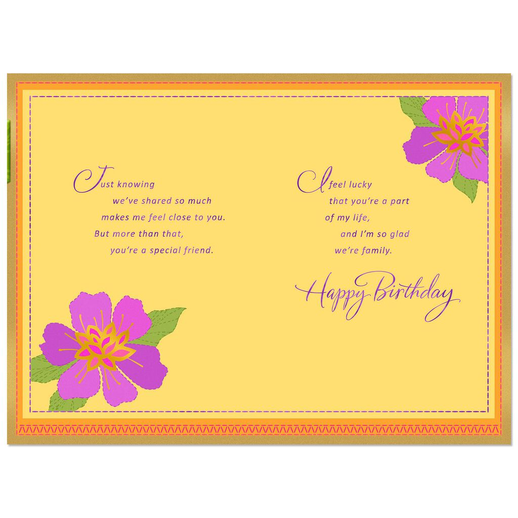 Youre A Special Friend Birthday Card For Sister