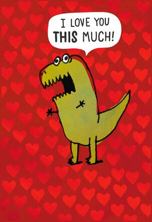 Love You This Much Funny Valentine's Day Card