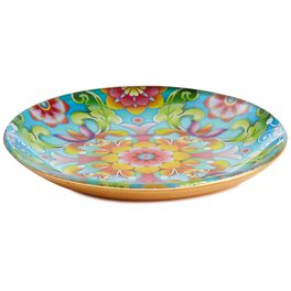Catalina Estrada Flourishing Blooms Glass Tray, , large
