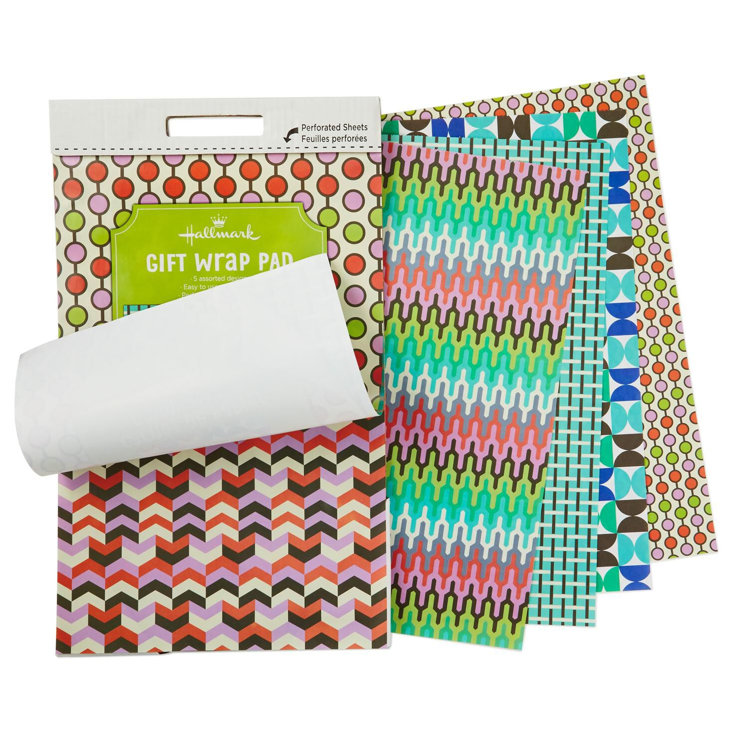 Miniature Wrapping Paper Pad in Graphic Geometric Patterns ...