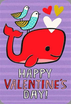 Love You Much Whale Valentine's Day Card