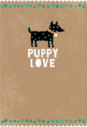 Black Dog New Puppy Card