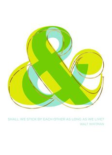 Ampersand Love Card,