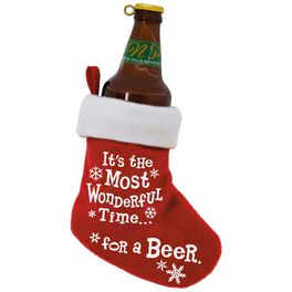 Beer Time Stocking Ornament, , large