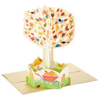 Welcome to Fall Pop Up Thanksgiving Card,