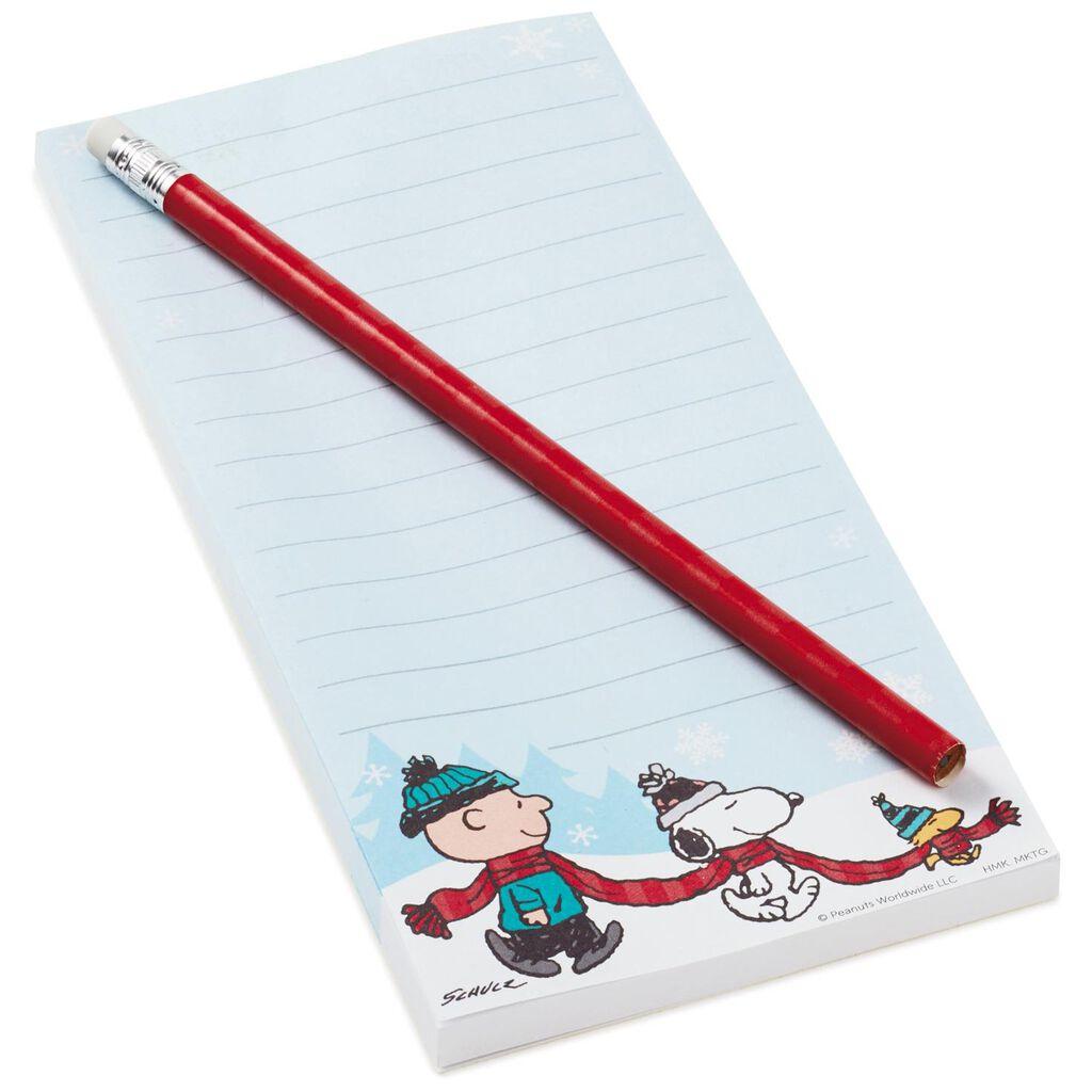 peanuts winter fun list pad and pencil set memo pads hallmark