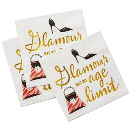 Glamour Has No Age Limit Beverage Napkins, Pack of 20, , large