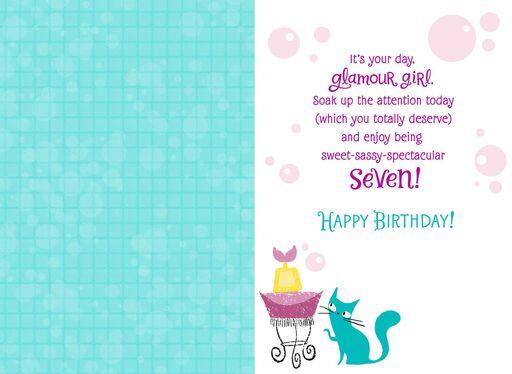 Looney Tunes Sweet Sassy Spectacular 7 Birthday Card,