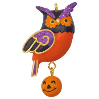 Wee Little Owl Mini Halloween Ornament,