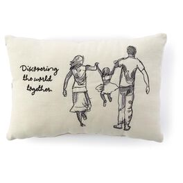 Discovering The World Embroidered 7x11 Pillow, , large