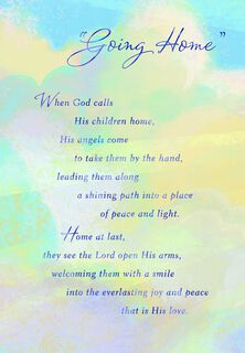 Going Home Religious Sympathy Card,