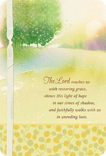 The Lord Walks With You Religious Sympathy Card,