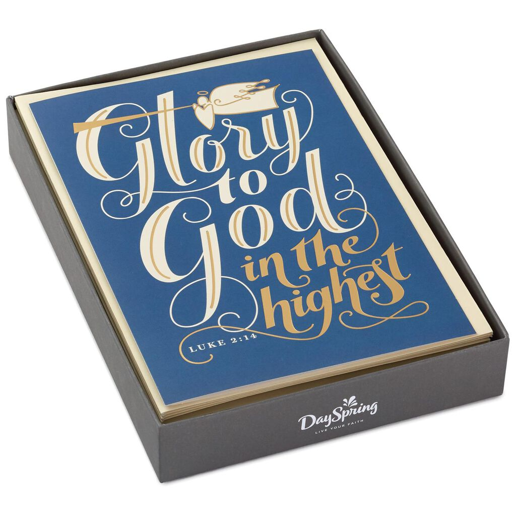 Glory to God Religious Christmas Cards, Box of 16 - Boxed Cards ...