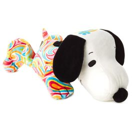 Flower Power Snoopy Stuffed Animal, , large