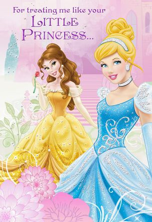 Disney Princesses Father's Day Card from Granddaughter