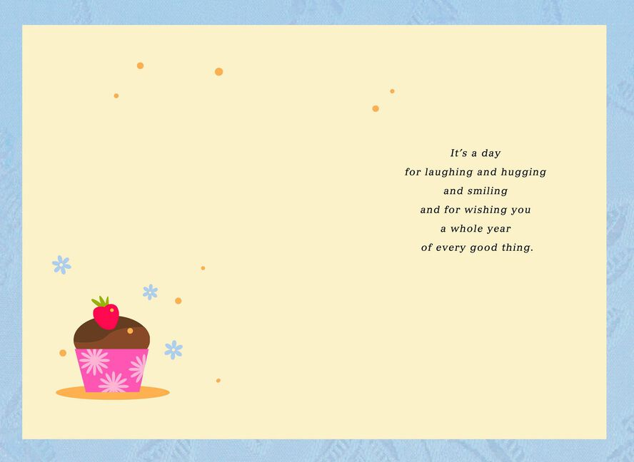 Flowers In Vase And Cupcake Birthday Card Greeting Cards Hallmark