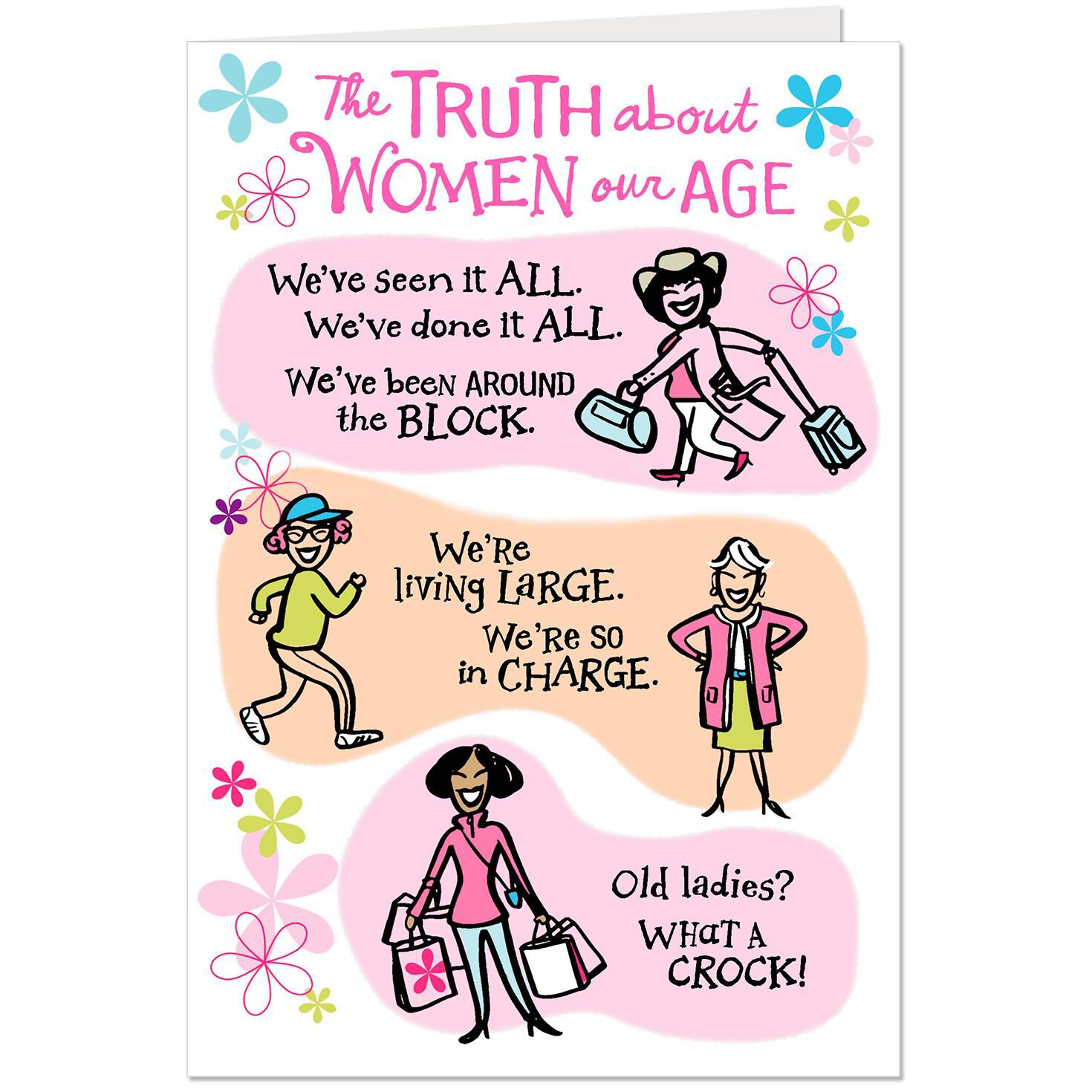 Image of: For Her Hallmark Women Our Age Funny Birthday Card For Friend Greeting Cards Hallmark