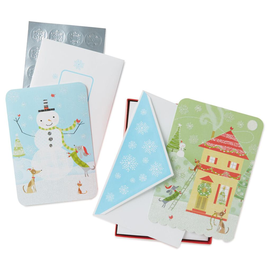 Jolly Holidays Assorted Christmas Cards, Box of 40 - Boxed Cards ...