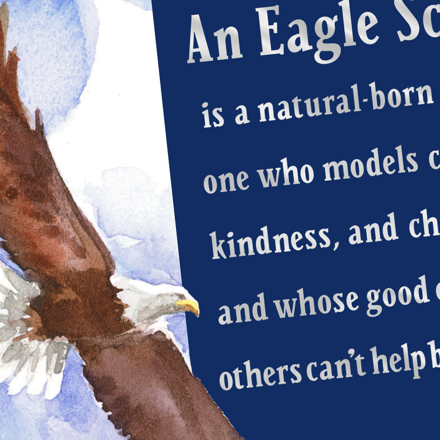 graphic about Eagle Scout Congratulations Card Printable called A Type of Personality Eagle Scout Congratulations Card