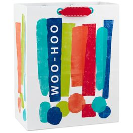 "Woo-Hoo Exclamation Points Large Gift Bag, 13"", , large"