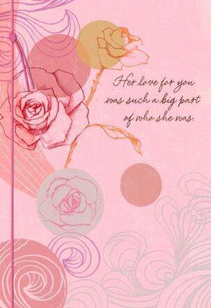 Roses and Dots Sympathy Card
