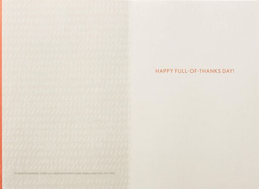 Full Hearts Banner Thanksgiving Card,
