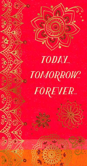 Today, Tomorrow, Forever Money Holder Wedding Card
