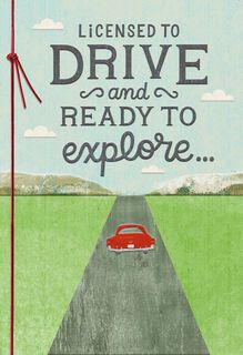Enjoy the Ride Driver's License Congratulations Card,