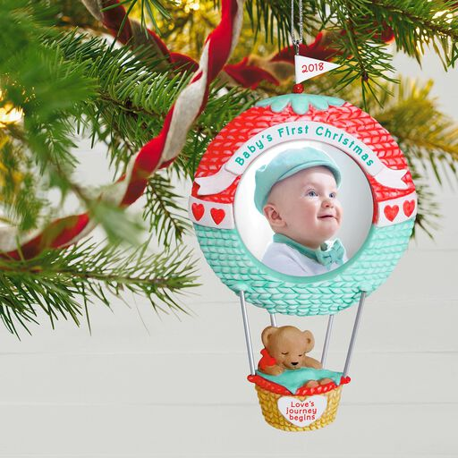 ... Baby s First Christmas Love s Journey Begins 2018 Photo Ornament bdde93c53