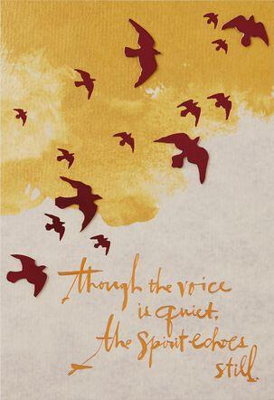 The Spirit Echoes Still Sympathy Card