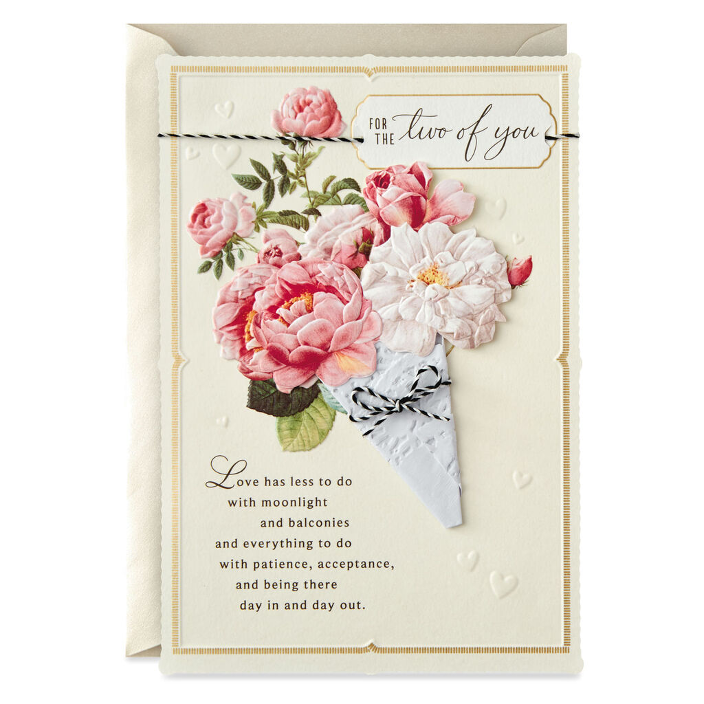 Wedding Greeting Cards.Posy Of Roses Wedding Card