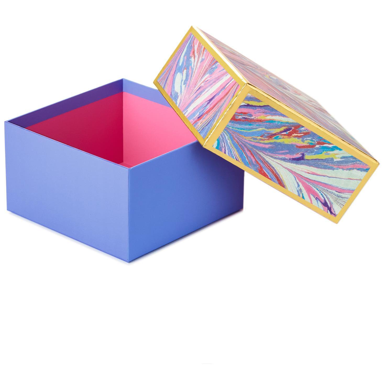 ... Periwinkle Marbled Medium Square Gift Box 7   sc 1 st  Hallmark & Periwinkle Marbled Medium Square Gift Box 7