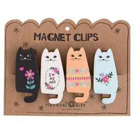 Natural Life Cat Magnet Clips—Set of 4, , large