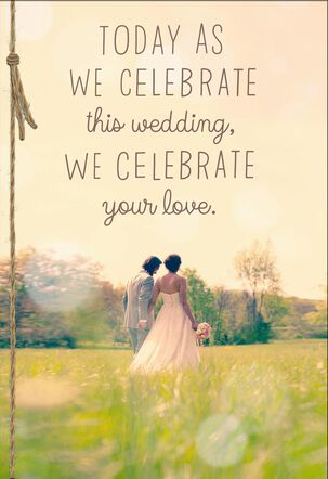 Celebrate Your Love Wedding Card