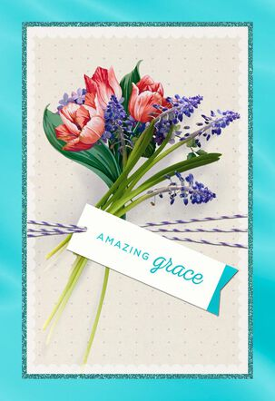 Amazing Grace Flower Bouquet Easter Card